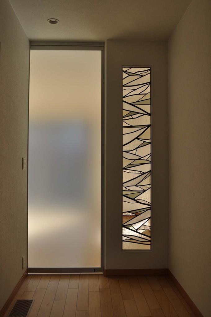 k邸-玄関ホールステンドグラス-神戸