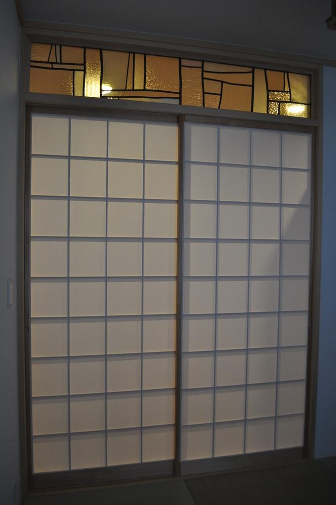 m邸-和室欄間ステンドグラス-京都-5