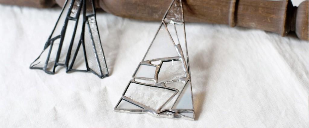 atelier mado works ステンドグラスのオーナメント、ワークショップ用ツリー