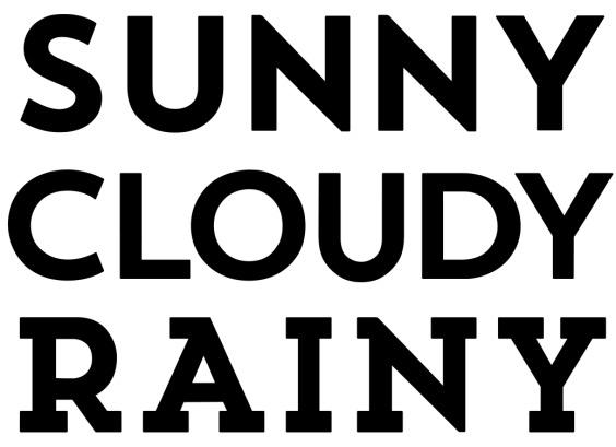 sunny cloudy rainy