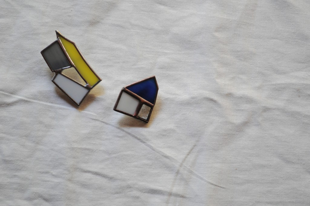 atelier mado 山崎まどか ステンドグラス ワークショップ 体験 ブローチ