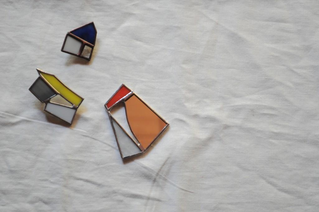 atelier mado 山崎まどか ステンドグラス体験 手鏡 ブローチ ワークショップ