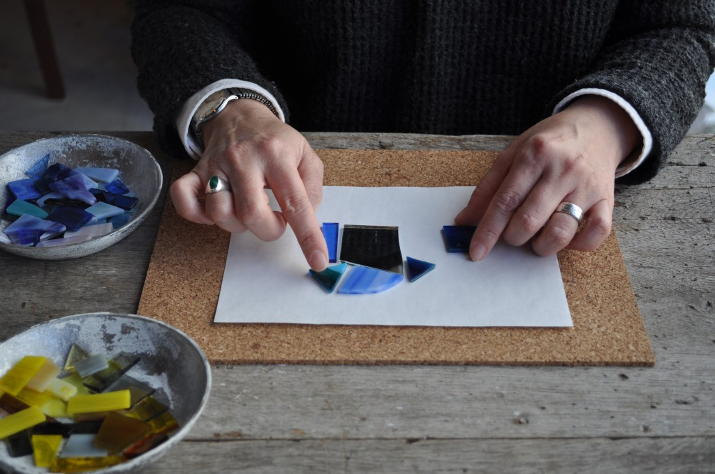 atelier mado ステンドグラス 手鏡 ワークショップ