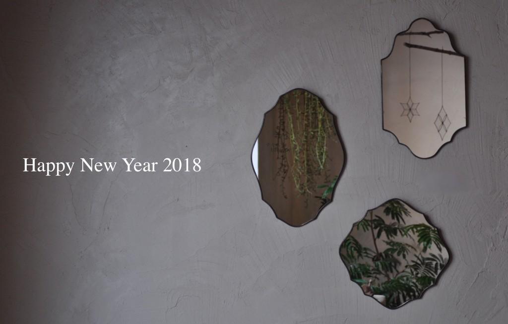 happy new year 2018 atelier mado 神戸 ステンドグラス ウォールミラー