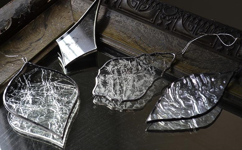 atelier mado ステンドグラス 透明 氷のような アンティーク調 オーナメント