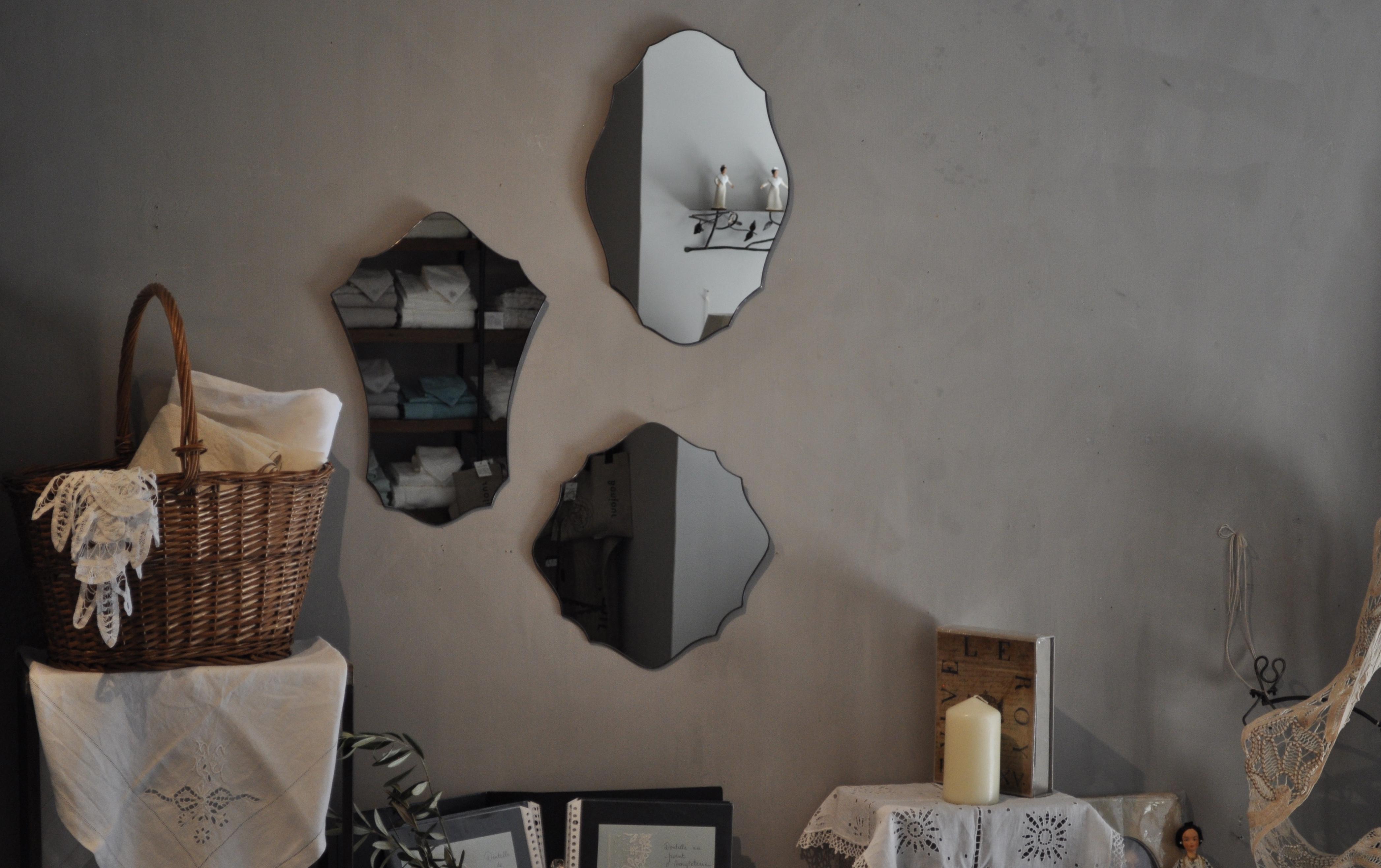 atelier mado 神戸 ステンドグラス 壁鏡 鏡 ウォールミラー フレンチスタイル シンプル