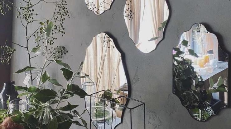 atelier mado 神戸 ステンドグラス 鏡 壁鏡 ウォールミラー 受注会